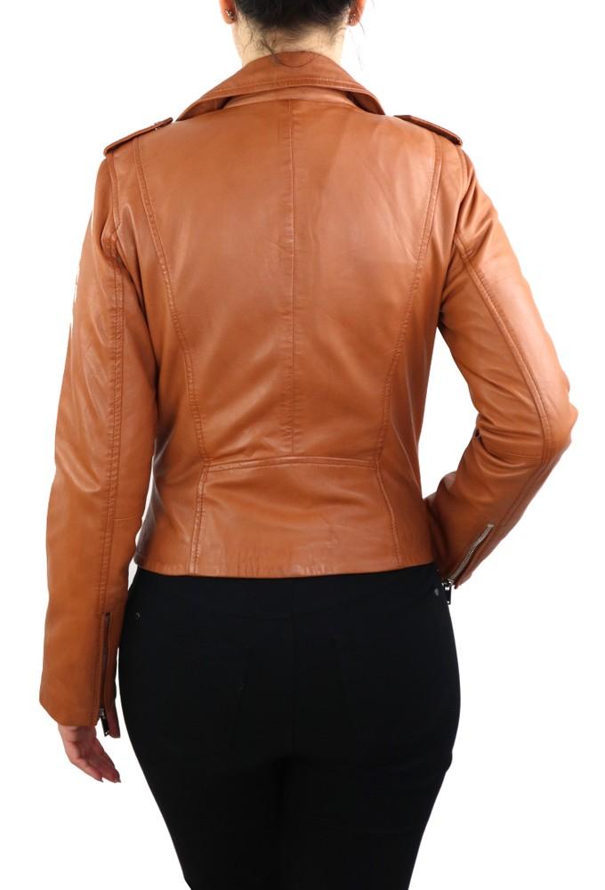 Damen-Lederjacke 7620, Cognac Braun in 2 Farben, Bild 5