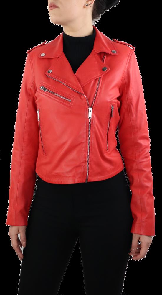 Damen-Lederjacke 7620, Rot in 2 Farben, Bild 2