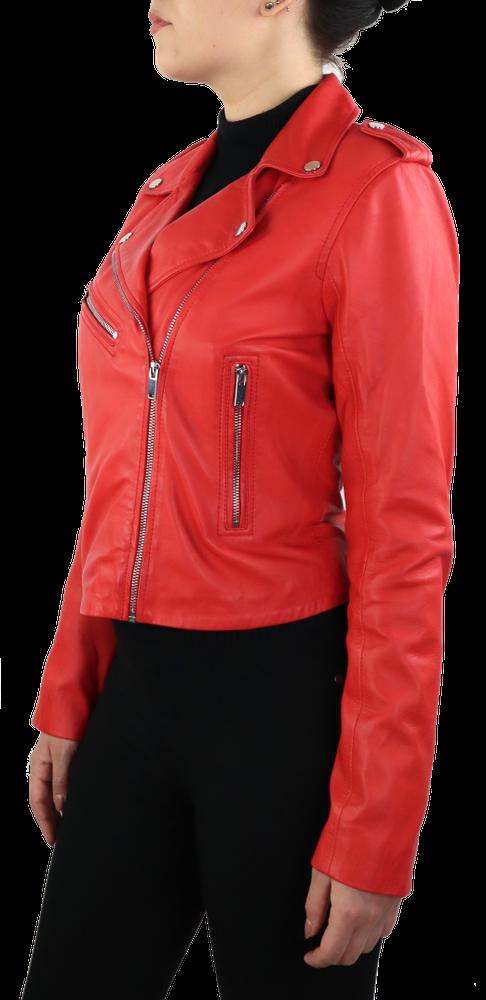 Damen-Lederjacke 7620, Rot in 2 Farben, Bild 5