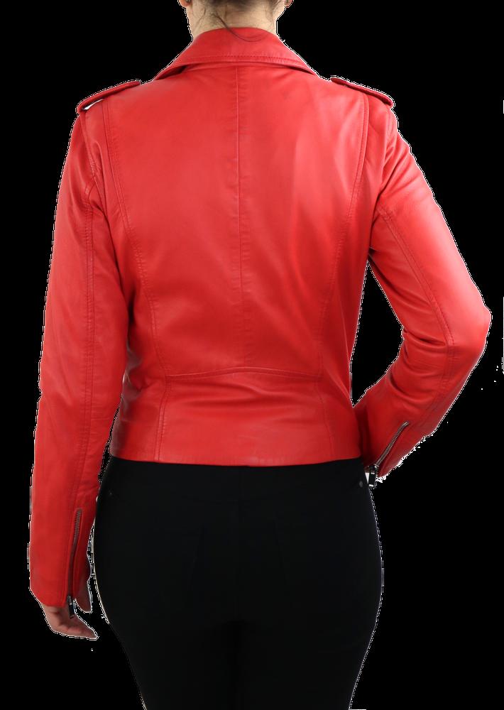 Damen-Lederjacke 7620, Rot in 2 Farben, Bild 6