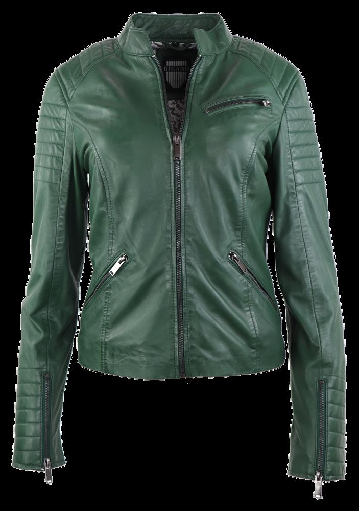 Damen-Lederjacke 7621, Grün in 2 Farben, Bild 1