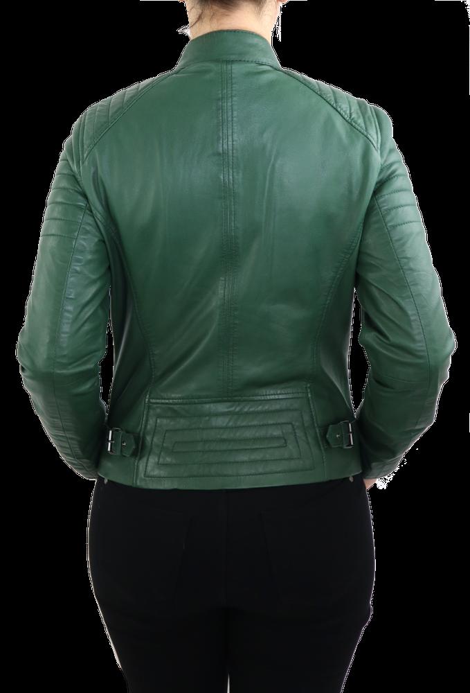 Damen-Lederjacke 7621, Grün in 2 Farben, Bild 5