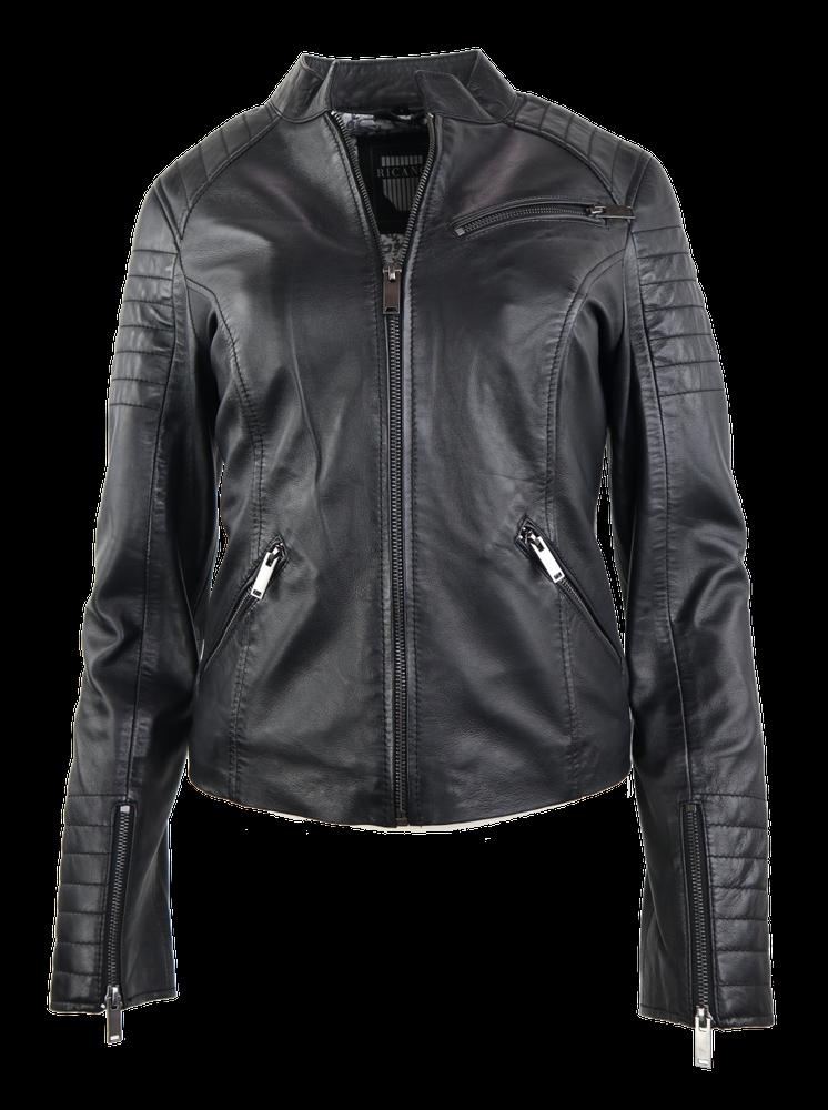 Damen-Lederjacke 7621, Schwarz in 2 Farben, Bild 1