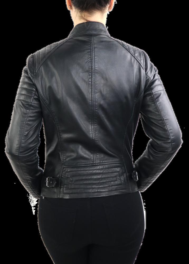 Damen-Lederjacke 7621, Schwarz in 2 Farben, Bild 5