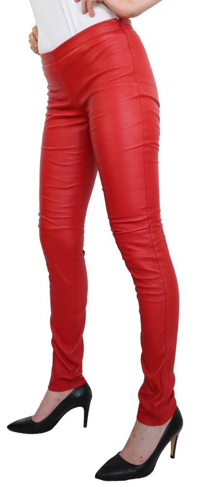 Damen-Lederhose Astroid Stretch, Rot in 2 Farben, Bild 1