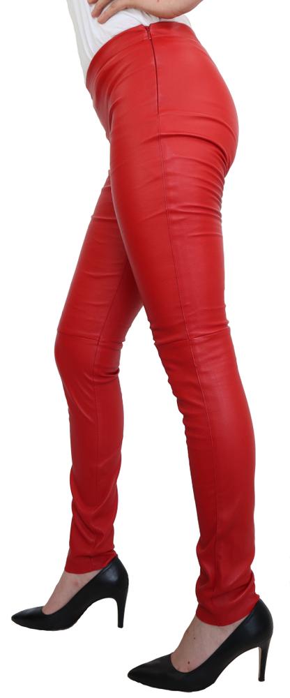 Damen-Lederhose Astroid Stretch, Rot in 2 Farben, Bild 2