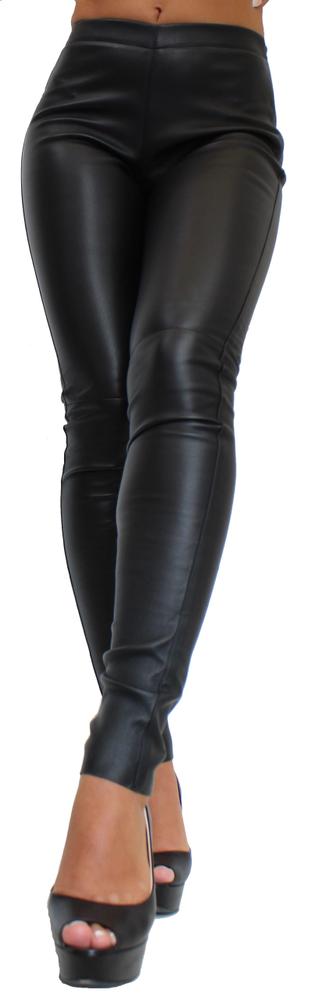 Damen-Lederhose Astroid Stretch, Schwarz in 2 Farben, Bild 2