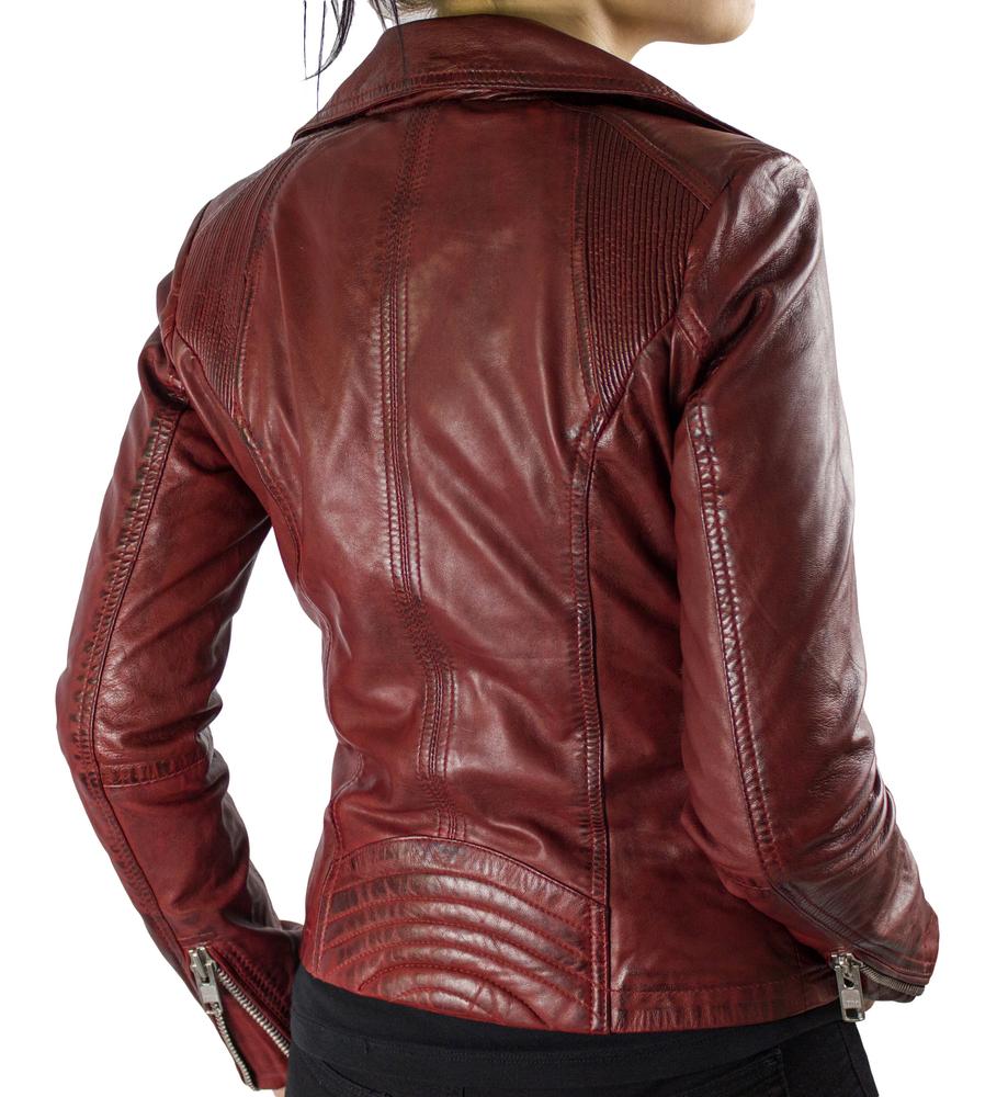 Damen-Lederjacke Betty, Rot in 3 Farben, Bild 5