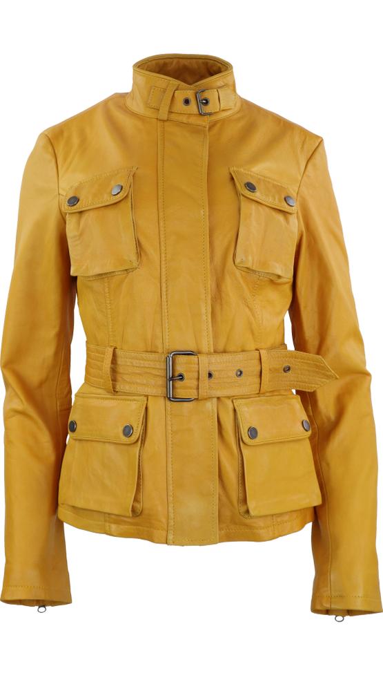 Damen-Lederjacke Caitlyn, Gelb in 5 Farben, Bild 1