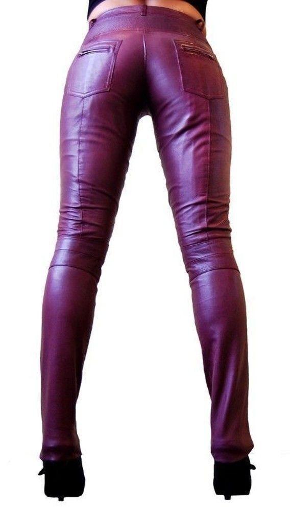 Damen-Lederhose Donna, Brombeer in 6 Farben, Bild 5
