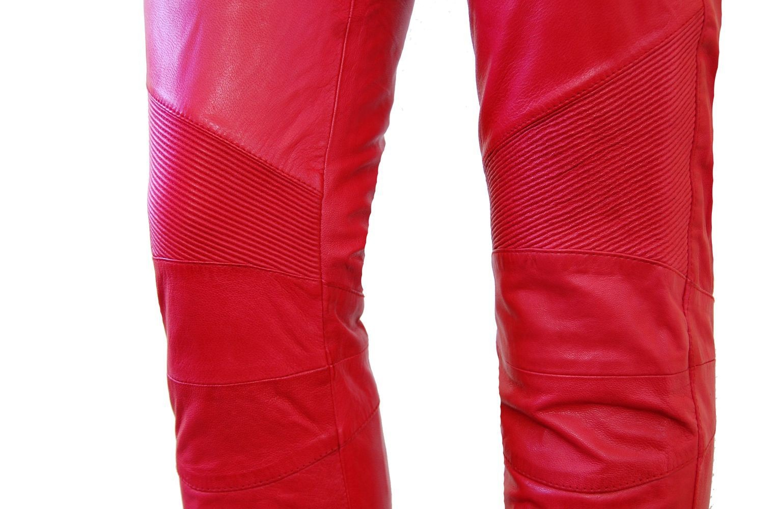 Damen-Lederhose Donna, Rot in 6 Farben, Bild 3