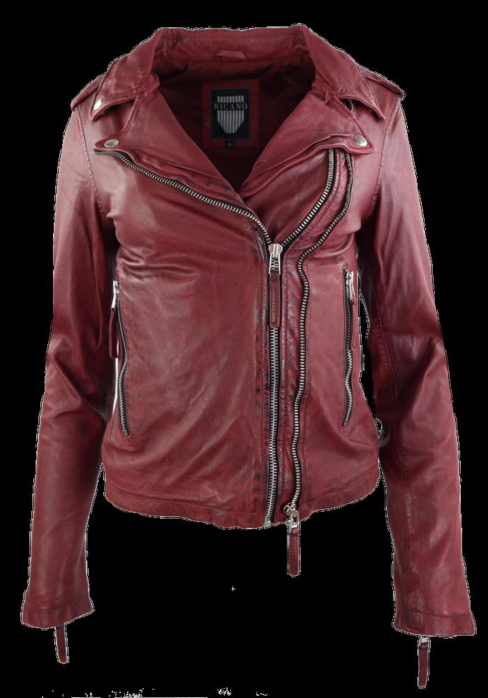 Damen-Lederjacke Foxy, Oxblood Rot in 12 Farben, Bild 1