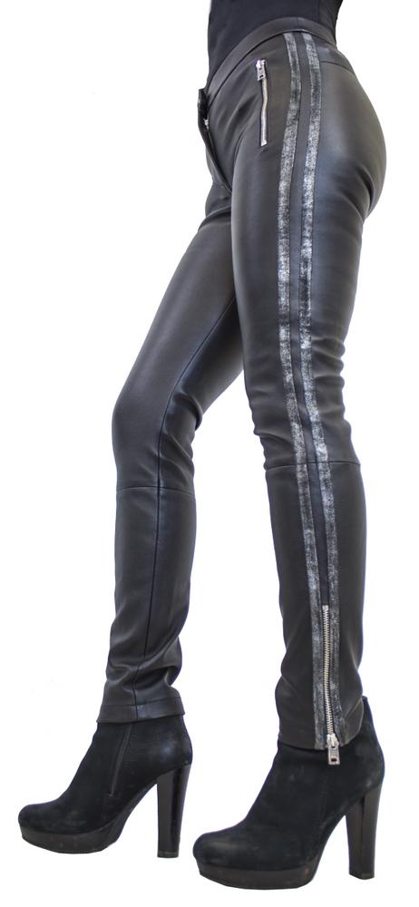 Damen-Lederhose Havana (Stretch), Schwarz in 3 Farben, Bild 4