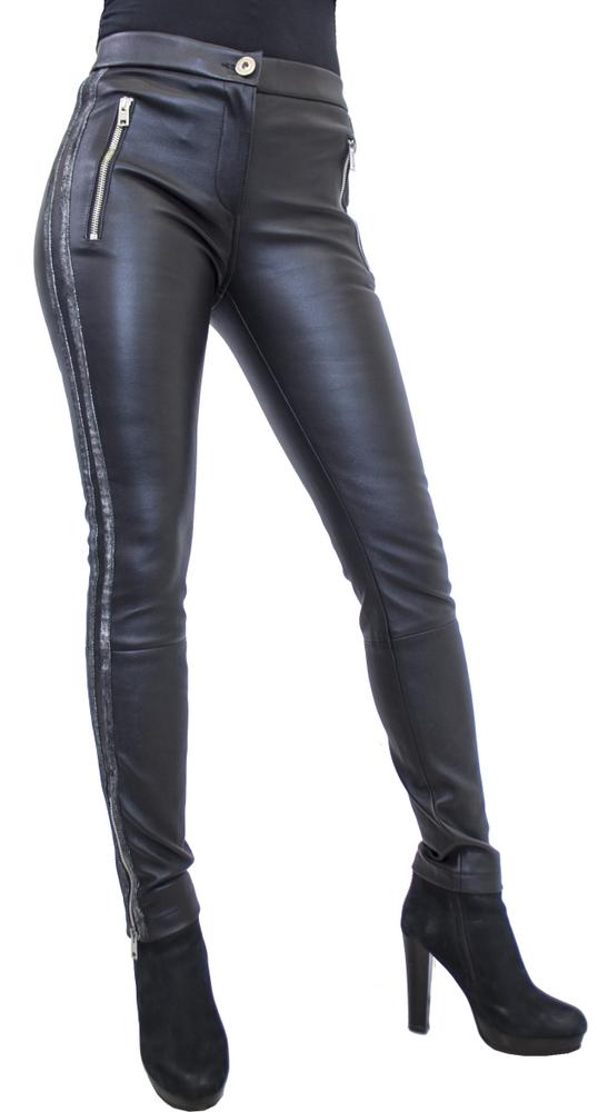 Damen-Lederhose Havana (Stretch), Schwarz in 3 Farben, Bild 1