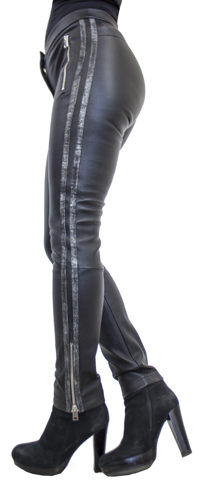 Damen-Lederhose Havana (Stretch), Schwarz in 3 Farben, Bild 2