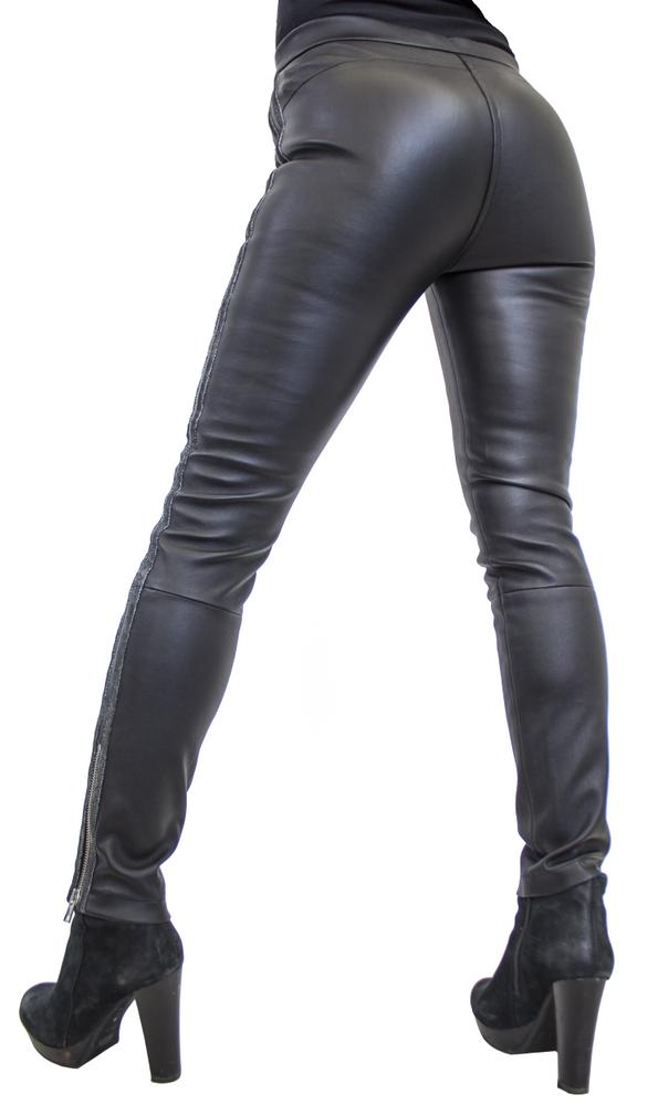 Damen-Lederhose Havana (Stretch), Schwarz in 3 Farben, Bild 5
