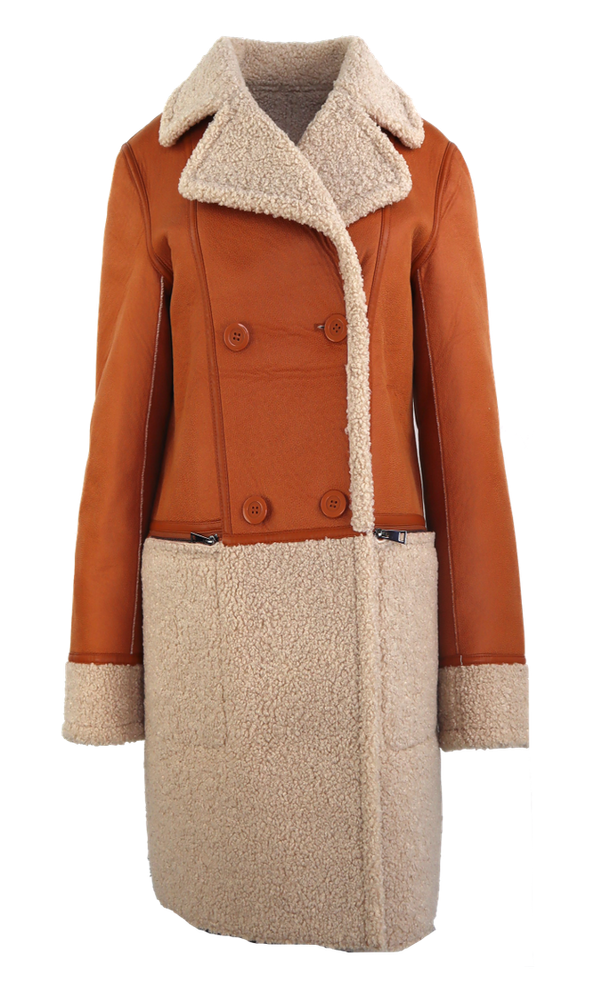 Textil-Jacke Nantes, Cognac / Teddy in 3 Farben, Bild 1