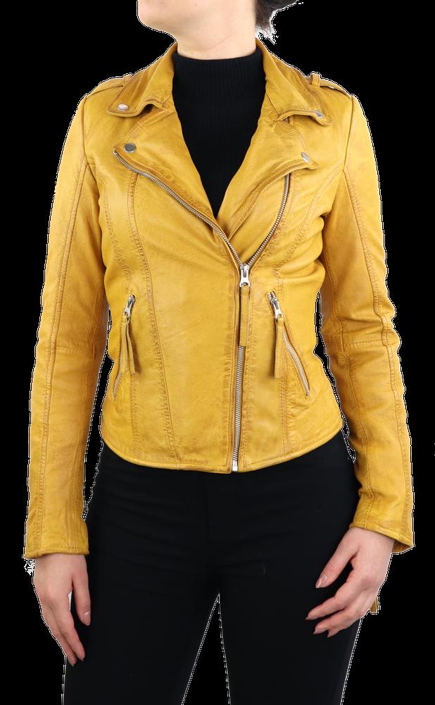 Damen-Lederjacke Relly, Gelb in 1 Farben, Bild 2