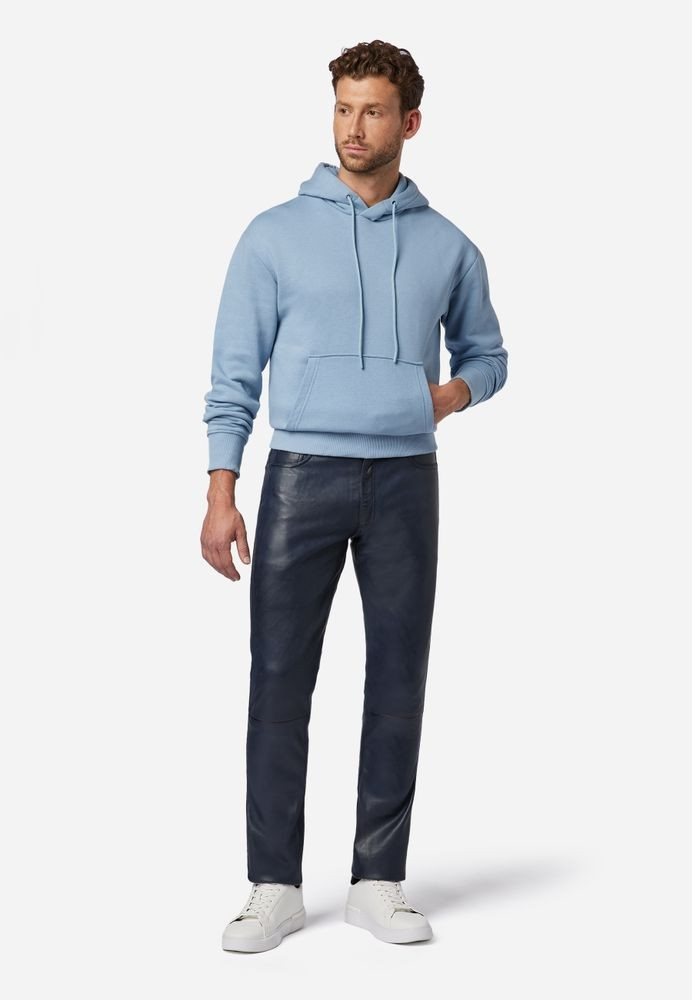 Herren-Lederhose Slim Fit, Blau in 6 Farben, Bild 2