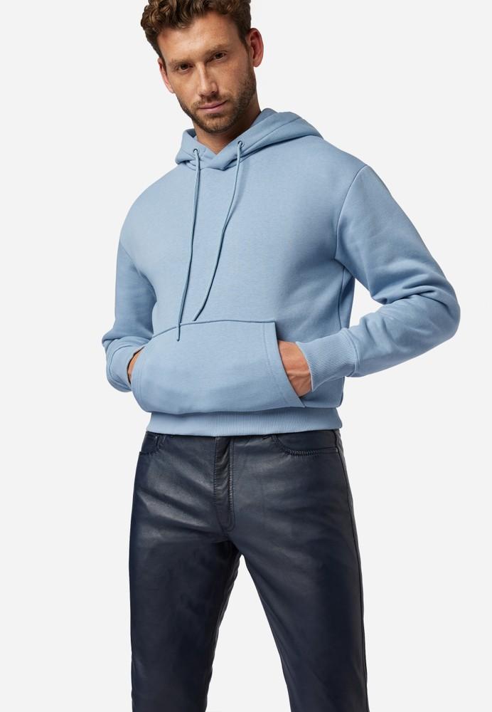 Herren-Lederhose Slim Fit, Blau in 6 Farben, Bild 5