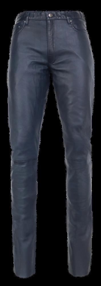 Herren-Lederhose Slim Fit, Blau in 6 Farben, Bild 6