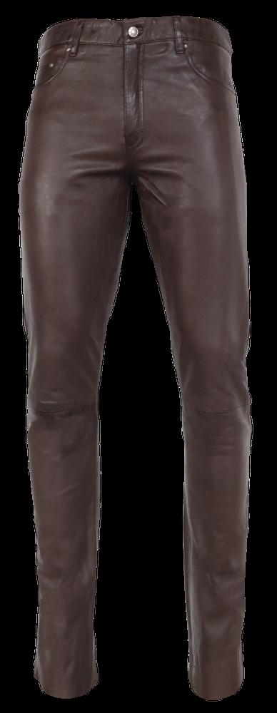 Herren-Lederhose Slim Fit, Braun in 6 Farben, Bild 6