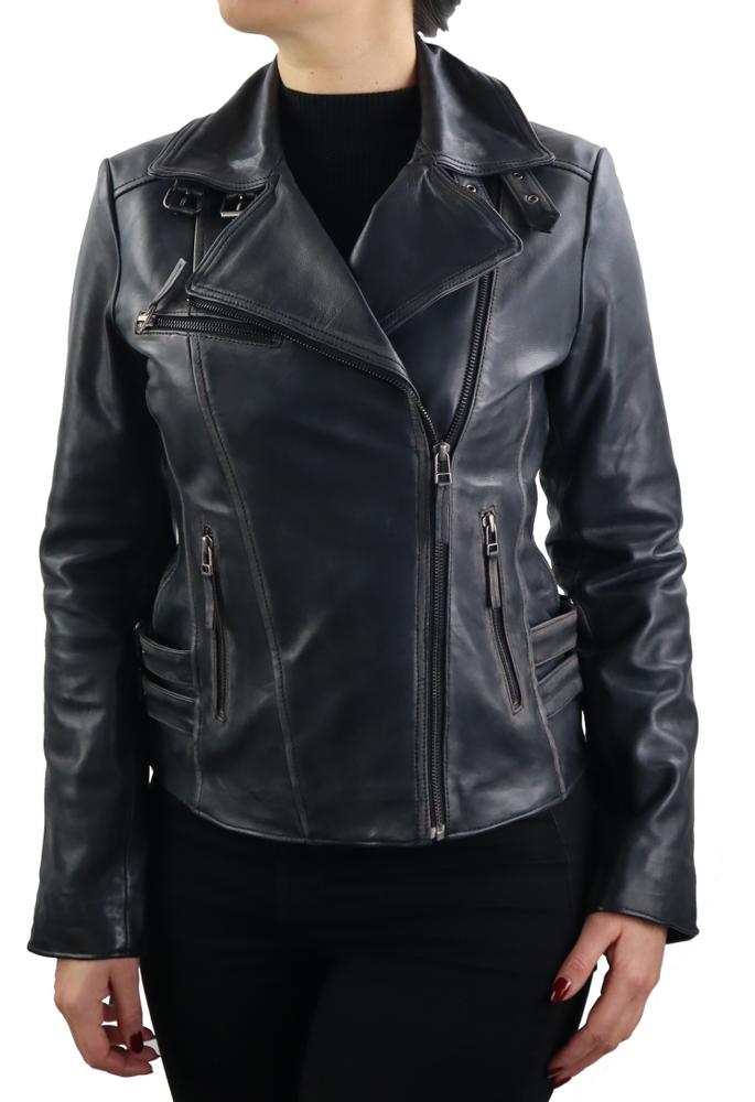 Damen-Lederjacke Unike, Schwarz in 1 Farben, Bild 2