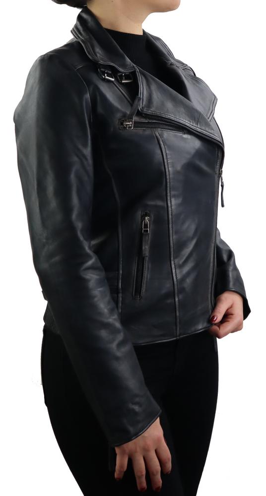 Damen-Lederjacke Unike, Schwarz in 1 Farben, Bild 4