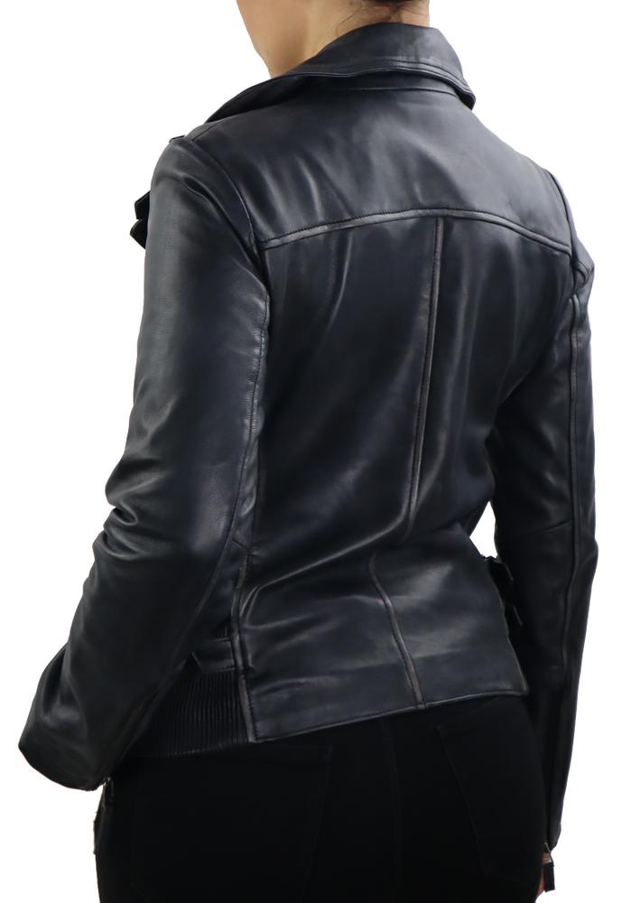 Damen-Lederjacke Unike, Schwarz in 1 Farben, Bild 5