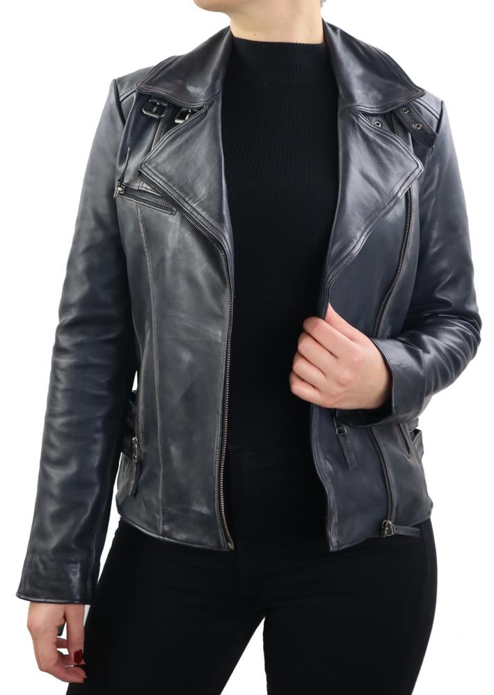 Damen-Lederjacke Unike, Schwarz in 1 Farben, Bild 3